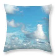 Cloudscape A Fine Day Throw Pillow