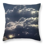 Cloudscape And River Throw Pillow