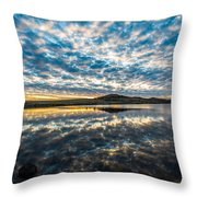 Cloudscape - Reflection Of Sky In Wichita Mountains Oklahoma Throw Pillow