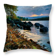 Cloudy Autumn Sunset Throw Pillow