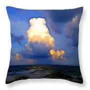 Cloudy Beach Throw Pillow