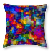 Cloudy Cubes Throw Pillow