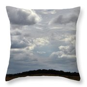 Cloudy Day At Dinenr Island Ranch Throw Pillow