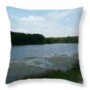 Cloudy Day At The Lake  Throw Pillow