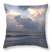 Cloudy Day In Naples Throw Pillow