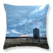 Cloudy Day On The Ranch Throw Pillow