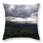 Cloudy Environment  Throw Pillow