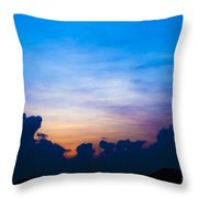 Cloudy Hedges Throw Pillow