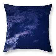 Cloudy Moon With Jupiter Throw Pillow