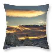Cloudy Mothership Throw Pillow