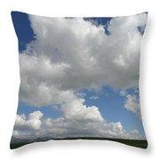Cloudy Mustard Throw Pillow
