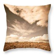 Cloudy Plain Throw Pillow