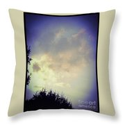 Cloudy Sky Before A Storm Throw Pillow