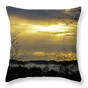 Cloudy Sunrise 1 Throw Pillow