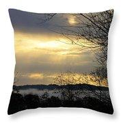 Cloudy Sunrise 2 Throw Pillow