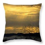 Cloudy Sunrise 3 Throw Pillow