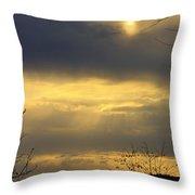 Cloudy Sunrise 4 Throw Pillow