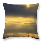 Cloudy Sunrise 4 Throw Pillow