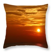 Cloudy Sunset On Lake Ontario - 27 August 2018 Throw Pillow