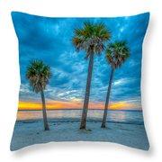 Cloudy Sunset -tampa, Florida Throw Pillow