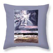 Cloudy Twilight Skyshine Throw Pillow