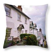 Clovelly Street View Throw Pillow