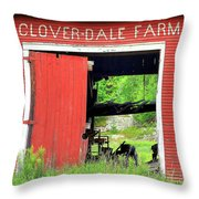 Clover Dale Farm Throw Pillow