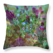 Clover Field Impressions Throw Pillow