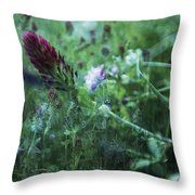Clover Field Remix Throw Pillow