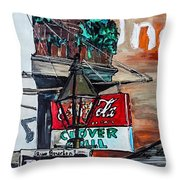 Clover Grill - New Orleans Throw Pillow