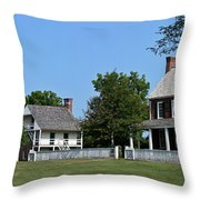 Clover Hill Tavern Appomattox Court House Virginia Throw Pillow