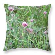 Clover In The Grass Throw Pillow