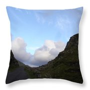 Clowdy Drive Throw Pillow