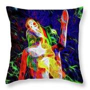 10780 Clown 3 - My Best Friend Neon Throw Pillow