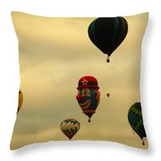 Clown Balloon Throw Pillow