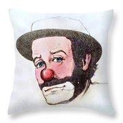 Clown Emmett Kelly Throw Pillow