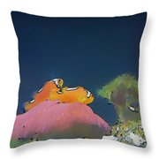 Clown Fish At Home Throw Pillow