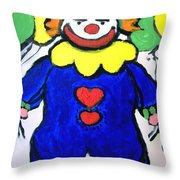 Clown For Jack Throw Pillow