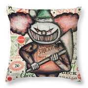 Clown Nightmare Throw Pillow