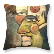 Clown Painting Throw Pillow