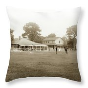 Club House And Golf Links, Old Del Monte, Monterey, California Circa 1920 Throw Pillow