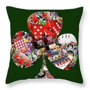 Club Playing Card Shape  Throw Pillow