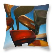 Clubs Rising Throw Pillow