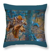 Clump Of Fall - Early Winter Throw Pillow