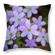 Clump Of Springtime Throw Pillow