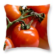 Cluster Of Tomatoes Throw Pillow