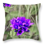 Clustered Bellflower Throw Pillow