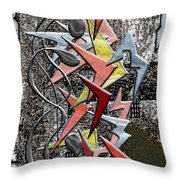 Clutch Of Chevrons Throw Pillow