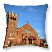 Clutier Community Center Throw Pillow