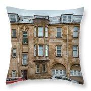 Clydebank Former Fire Station Building Throw Pillow